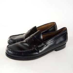 Weejuns By GH Bass Logan Size 9.5D Black Loafers